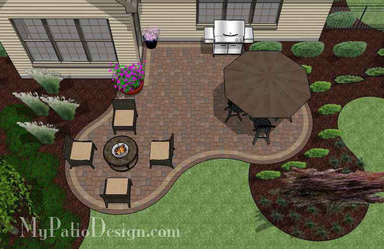 Small Outdoor Living Patio Design 2