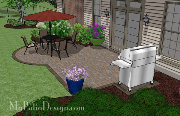 Small Patio Design on a Budget | Download Plan ... on Patio Designs On A Budget id=44157