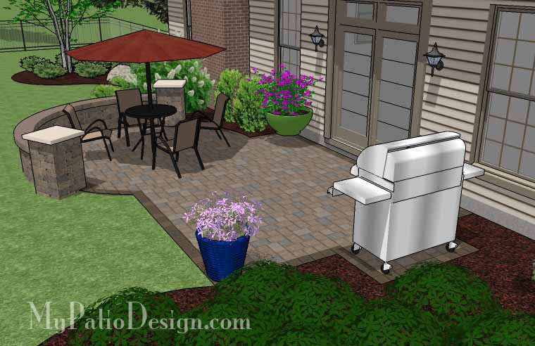 small patio design patio design ideas small spaces small patio design on a budget with seat - Small Patio Designs With Pavers