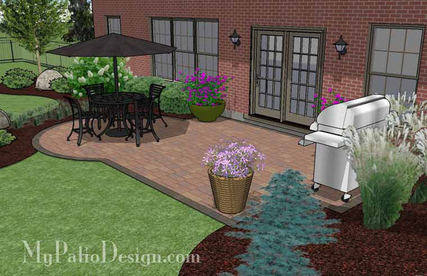 Small Paver Patio Design | Patio Layout and Material List ...