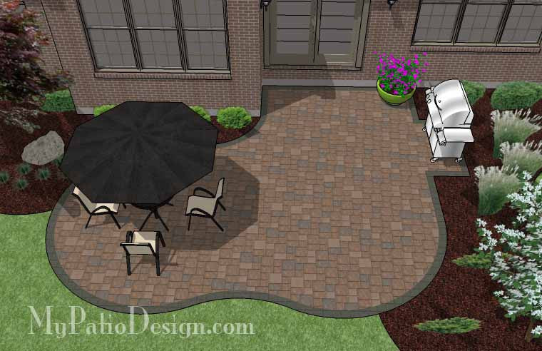 Small Yard Patio Plan 2