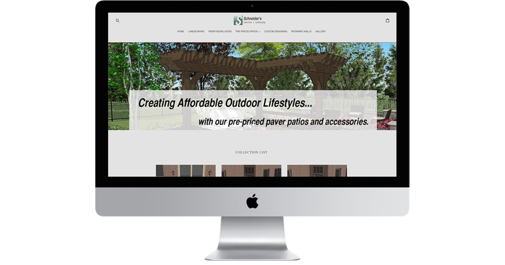 Patio Design Website- Discounted Monthly Subscription