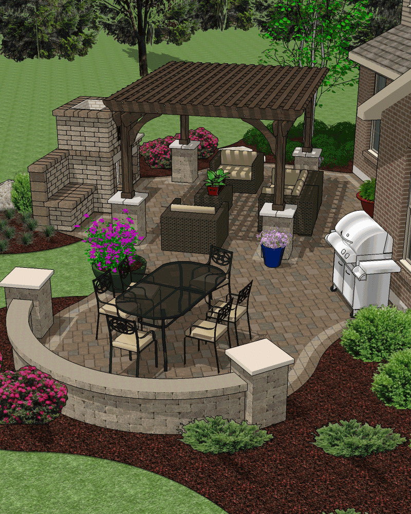 Affordable patio designs for your backyard mypatiodesign patio hardscape accessory plans solutioingenieria Image collections