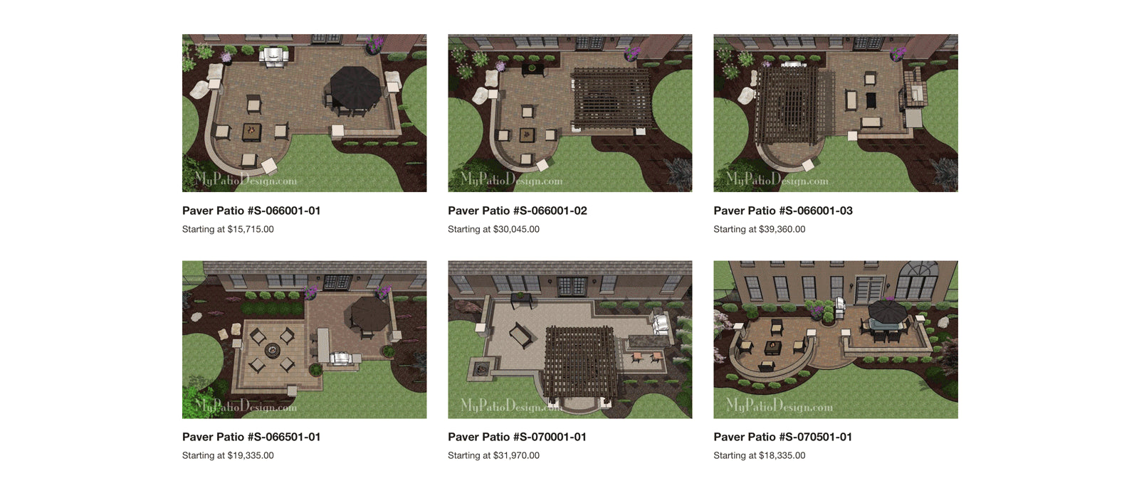 What's included with patio plan packages.