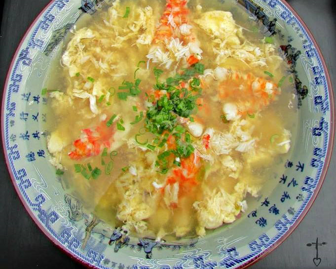 Dungeness Crab And Rock Shrimp Egg Drop Soup Miracle Noodle