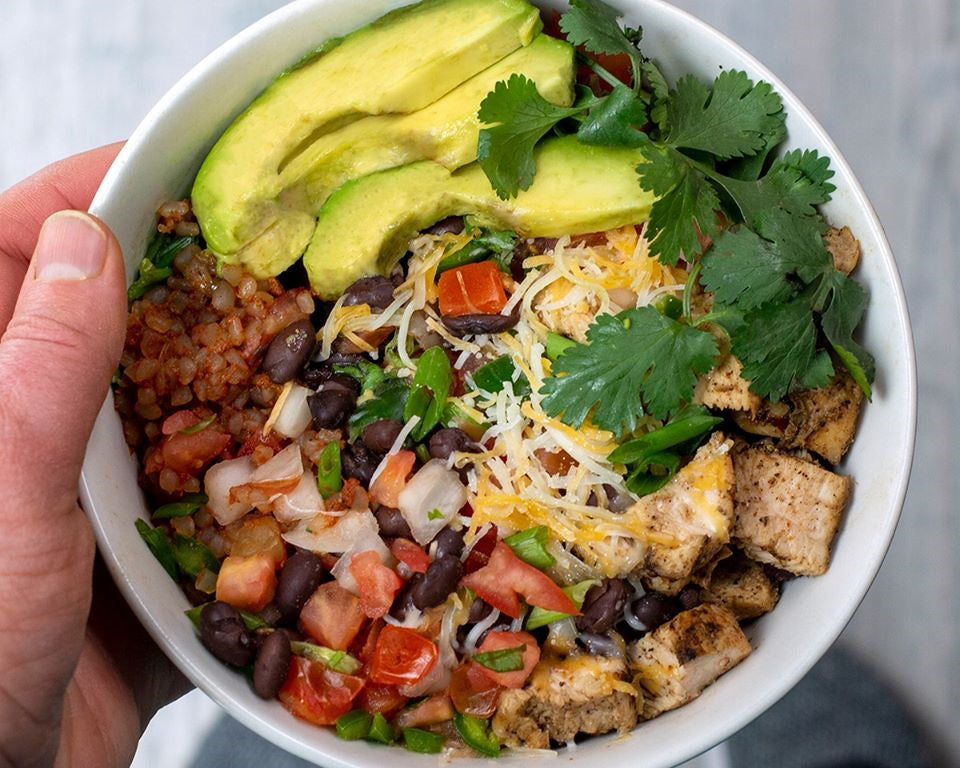 Spicy Chicken Miracle Rice And Beans Bowl Miracle Noodle
