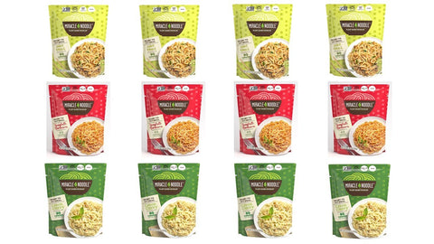 12-Pack Ready-to-Eat Meal Variety (4 Spaghetti Marinara, 4 Pad Thai and 4 Green Curry)