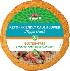 "Rich's Home 10"" Keto-Friendly Cauliflower Pizza Crust"
