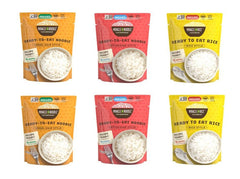 6-Pack Ready To Eat Variety - Angel Hair, Fettuccine & Rice