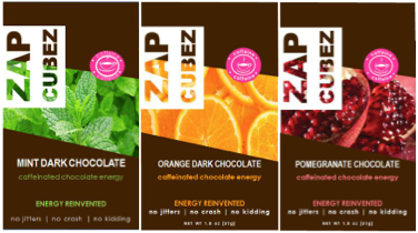 ZAP Cubez 3 Pack Variety Caffeinated Energy Chew - 36 count