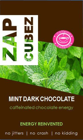 ZAP Cubez Mint Dark Chocolate Caffeinated Energy Chew - 12 count