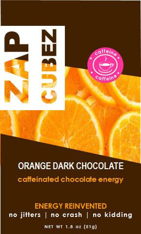 ZAP Cubez Orange Dark Chocolate Caffeinated Energy Chew - 12 count