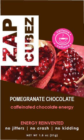 ZAP Cubez Pomegranate Chocolate Caffeinated Energy Chew - 12 count
