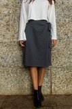 Julia Wrap Skirt - Dark Grey
