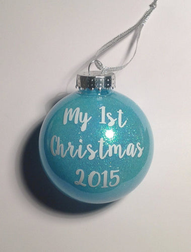 My 1st Christmas Bauble Vinyl Decal Sticker for DIY Baubles