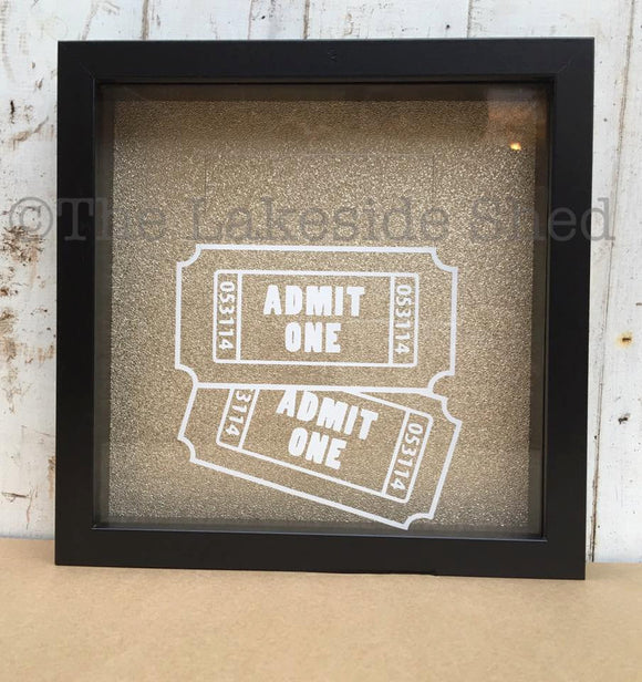 Admit One Frame - Shadow Box Ticket - Ticket Shadow Box - Ticket Stub Box - Admit One Shadow Box - Memory Box