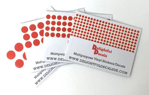 Mini Dot/ Circle Vinyl Stickers Decals A6 Sheet