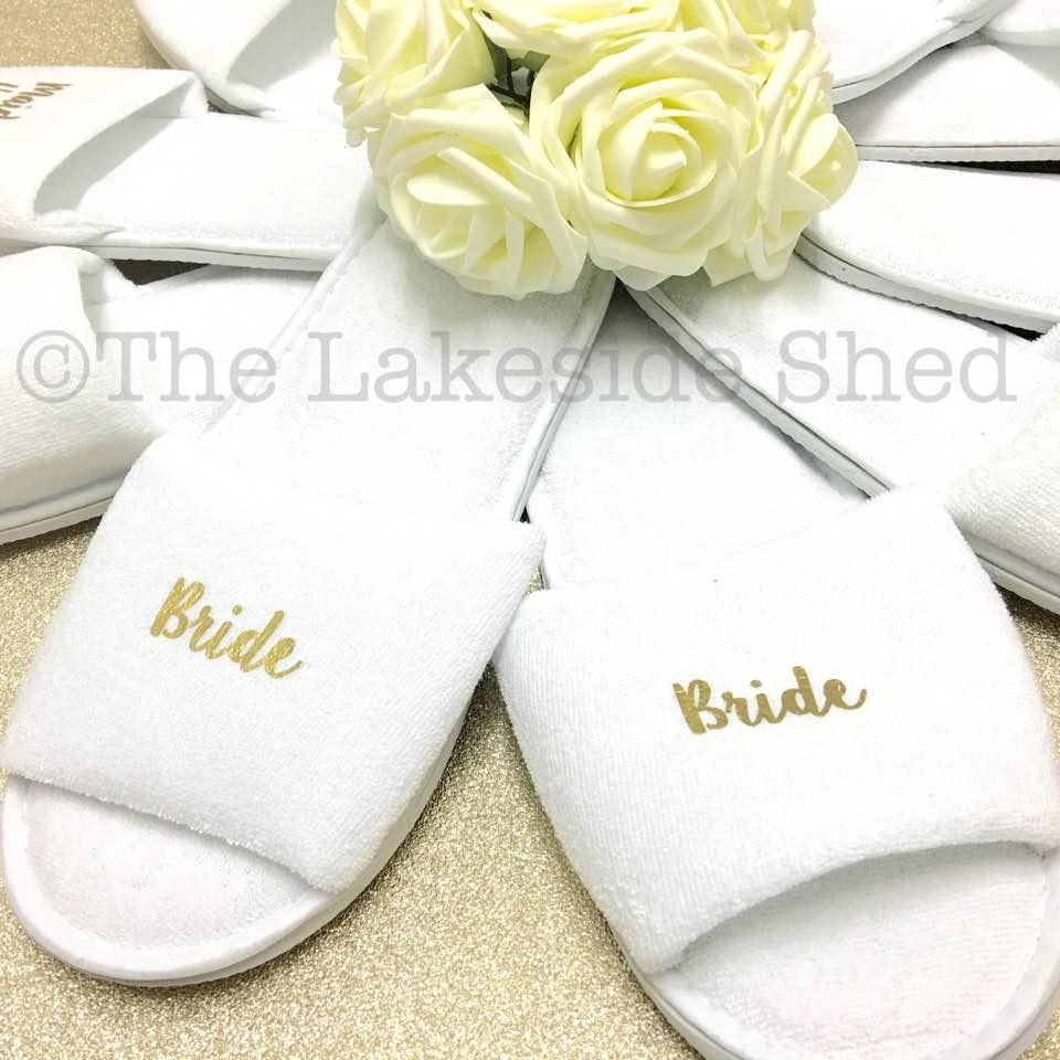 b6d74c2bf1c1 ... Hen Party Slippers • Bridal Party slippers • Personalised Spa Slippers  ...