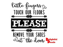 Load image into Gallery viewer, Little Fingers Touch Our Floors Please Vinyl Sticker Decal DIY Ikea Ribba Frame