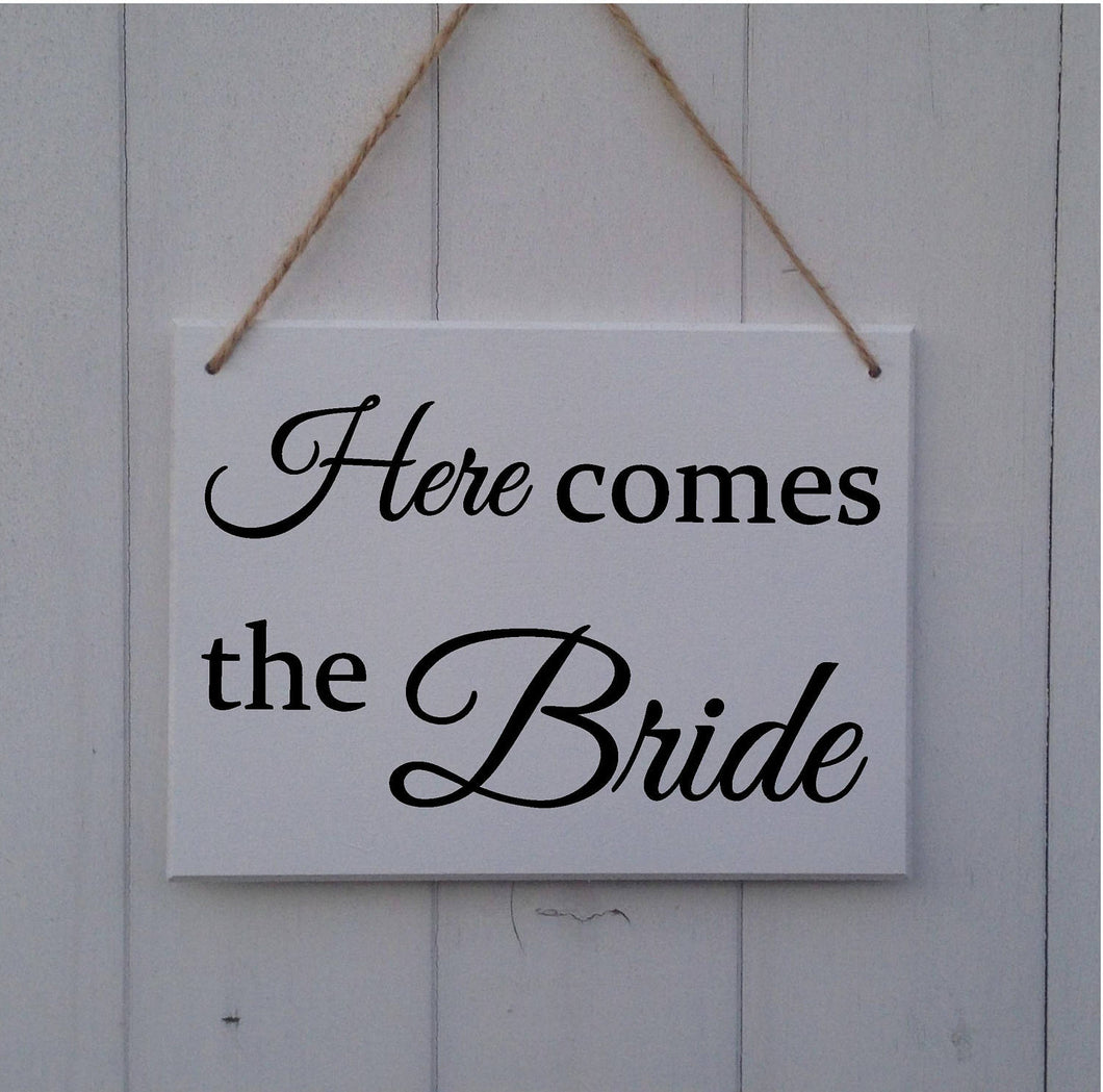 Here Comes The Bride Sign • Here Comes The Bride Plaque • Wedding Sign • Page Boy Sign • Ring Bearer Sign • Bridesmaid Sign • Ring Security