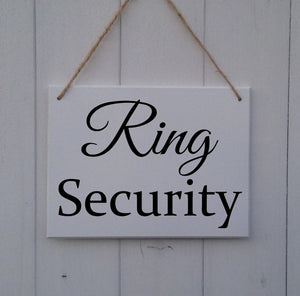 Ring Security • MDF Sign • Plaque • Wedding • Prop • Page Boy • Ring Bearer • Usher • Flower Girl • Bridesmaid • Here Comes The Bride