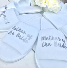 Load image into Gallery viewer, Bridal slippers • Bridal Party Slippers • Hen Party Slippers • Personalised Spa Slippers • Wedding Slippers • Spa Slippers • Bridesmaid Gift