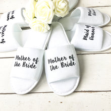 Load image into Gallery viewer, Bridesmaid Slippers • Wedding Slippers • Spa Slippers • Bridal Party Slippers • Hen Party Slippers •Personalised Slippers • Wedding Slippers