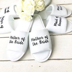 Bridesmaid Slippers - Wedding Slippers - Spa Slippers - Bridal Party Slippers - Hen Party Slippers - Personalized Slippers