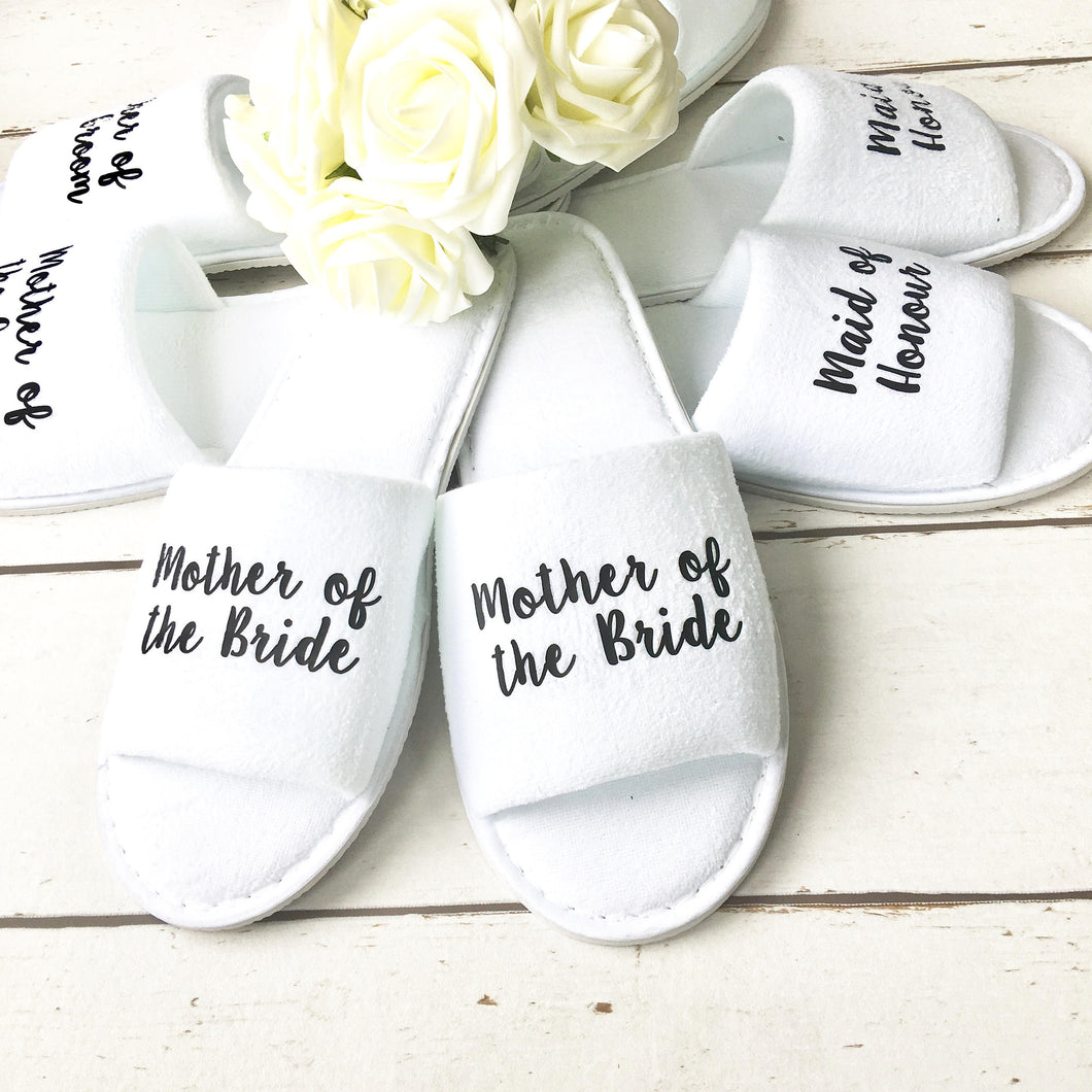 Bridesmaid Slippers • Wedding Slippers • Spa Slippers • Bridal Party Slippers • Hen Party Slippers •Personalised Slippers • Wedding Slippers