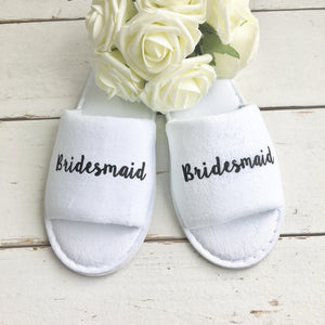 Personalised Hen Party Bridal Spa Slippers