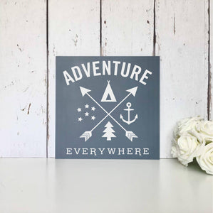 Adventure Awaits • Live simply • Dream big • Be grateful • Give love • Laugh lots • MDF Sign • Wall Art • Nursery • Home • Decor • Gift  MDF plaque/sign/wall art