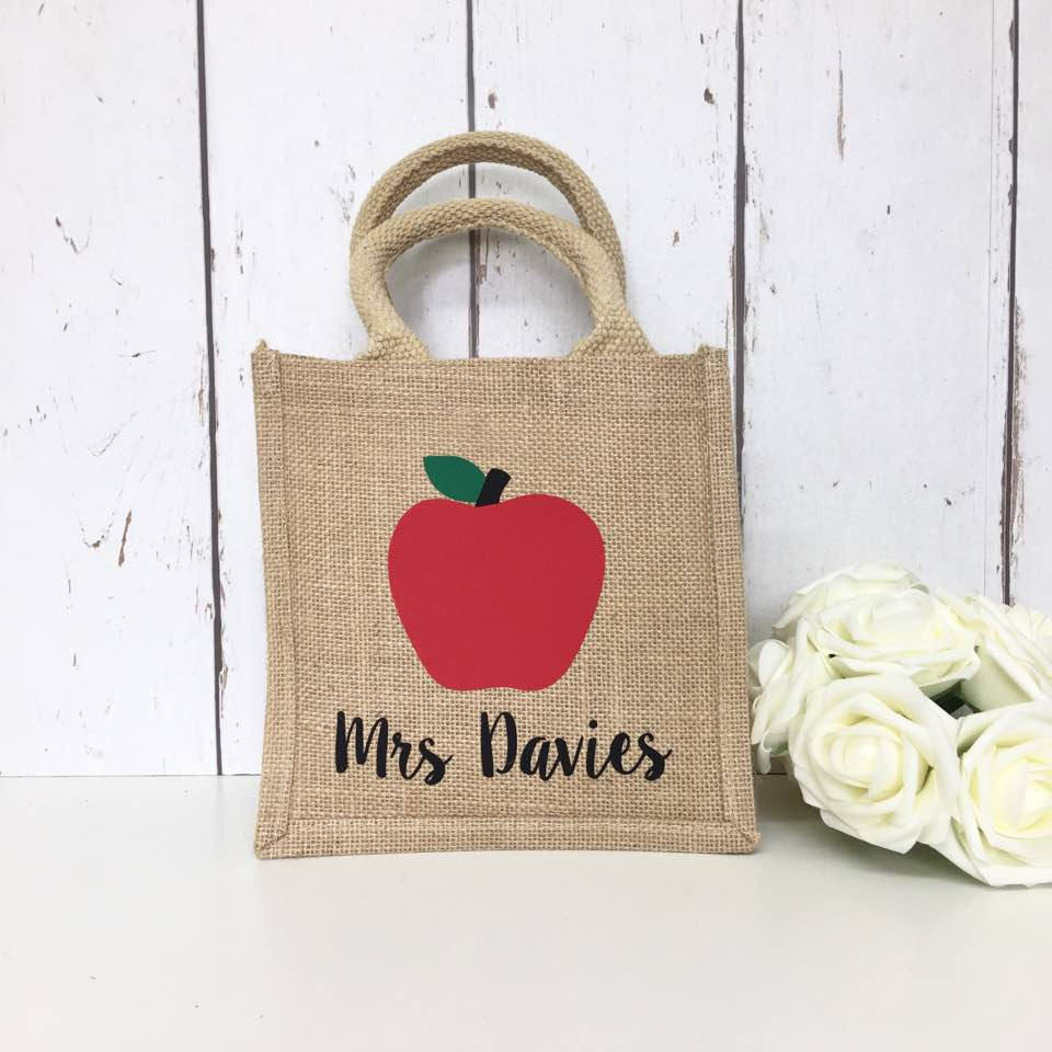 Teacher Gift | Personalised Lunch Bag | Bag for Teacher | Teacher Appreciation Thank you Gift  Storage for Teacher Teaching Assistant Gift