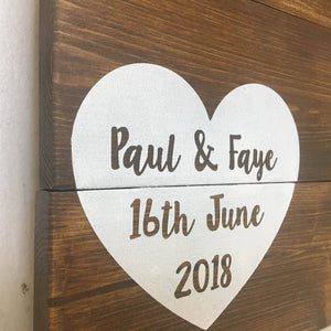 Wedding Guest Book Alternative • Wooden Guestbook • Wooden Guest Board •Wedding Guest Board •Rustic Wedding Decor •Pallet Wood •Wedding Sign