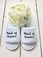 Load image into Gallery viewer, Personalised Hen Party Bridal Spa Slippers