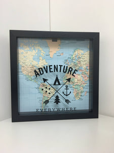Adventure Everywhere • Adventure Fund • Ticket Shadow Box • Memory Box • Shadow Box Ticket • Ticket Stub Box • Cinema Stub • Memory Shadow Box
