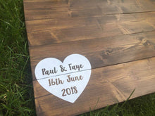 Load image into Gallery viewer, Wedding Guest Book • Alternative Guest Book • Wooden Guest Book • Pallet Sign • Rustic Wedding • Personalised Guestbook • Wooden Guestbook Rustic • Wedding • Guest Book • Board • Alternative • Pallet Wood • Wooden Sign • Personalised • Props • Custom • Unique • Guestbook