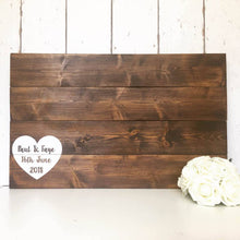 Load image into Gallery viewer, Wedding Guest Book Alternative • Wooden Guestbook • Wooden Guest Board •Wedding Guest Board •Rustic Wedding Decor •Pallet Wood •Wedding Sign