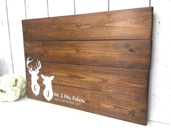 Rustic Wedding Guest Book | Wooden Guest Book | Alternative Guest Book | Guestbook Sign | Pallet Sign | Stag Doe | Woodland Wedding Theme