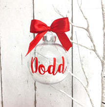 Load image into Gallery viewer, Personalised Christmas Bauble • Red