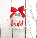 Personalised Christmas Bauble • Red
