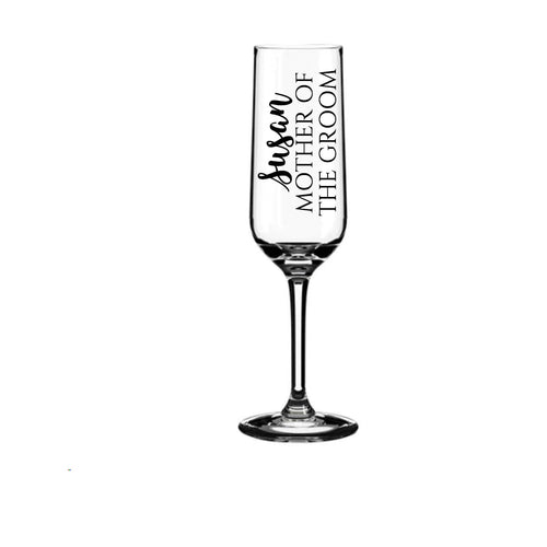 Wedding Glass Sticker | Glass Decal | Bridal Party Stickers | Vinyl Sticker | Champagne Glass Stickers | DIY Stickers | Name & Role Decals
