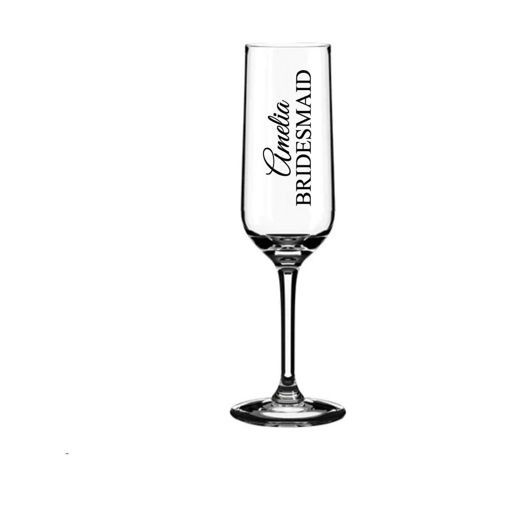 Wedding Glass Sticker Glass Decal Bridal Party Stickers Bridesmaid Sticker Champagne Glass DIY Stickers Name & Role Decal Bridesmaid Gift