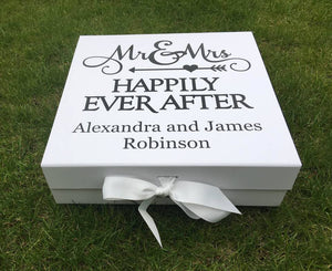 Wedding Memories Box | Wedding Keepsake Box |Mr and Mrs Gift |Mr & Mrs Gift |Happily Every After |Memory Box | Wedding Gift |Cards and Gifts
