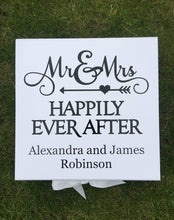 Load image into Gallery viewer, Wedding Memories Box | Wedding Keepsake Box |Mr and Mrs Gift |Mr & Mrs Gift |Happily Every After |Memory Box | Wedding Gift |Cards and Gifts