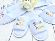 Load image into Gallery viewer, Bride Tribe Slippers • Hen Party Slippers • Bridesmaid slippers
