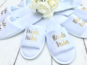 Bride Tribe Slippers • Hen Party Slippers • Bridesmaid slippers