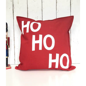 Ho Ho Ho Cushion • HoHoHo • Santa Cushion • Christmas Cushion • Christmas Soft Furnishings • Red Christmas Cushion • Festive Cushion • Decor