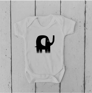 Elephant | Baby Vest | Baby Grow | Bodysuit | Body Suit | Baby Clothing |  | Baby Boy | Baby Girl | Gift | Baby Shower | Mum to Be