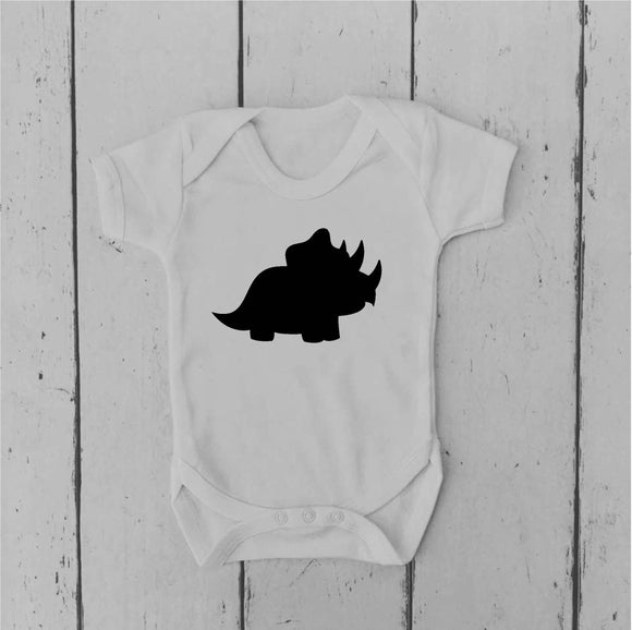 Triceratops | Dinosaur | Baby Vest | Baby Grow | Bodysuit | Body Suit | Baby Clothing |  | Baby Boy | Baby Girl | Gift | Baby Shower