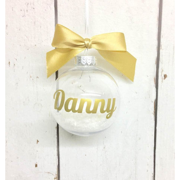 Personalised Christmas Bauble • Gold